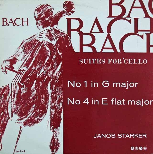 シュタルケルのバッハ/無伴奏チェロ組曲第1&4番 英SAGA 3219 LP レコード