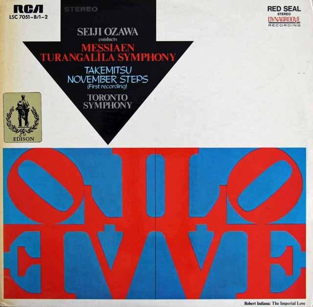 小澤のメシアン/トゥーランガリラ交響曲ほか 独RCA 3219 LP レコード