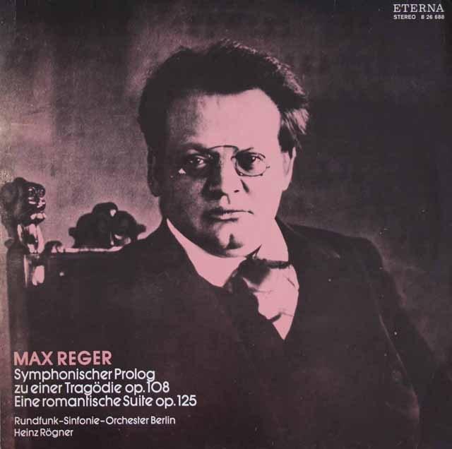 レーグナーのレーガー/管弦楽曲集 独ETERNA 3219 LP レコード