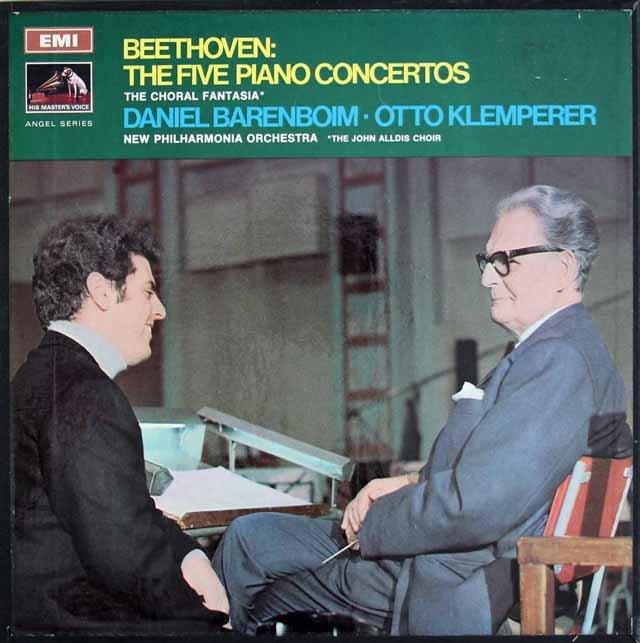 バレンボイム&クレンペラーのベートーヴェン/ピアノ協奏曲全集 英EMI 3219 LP レコード