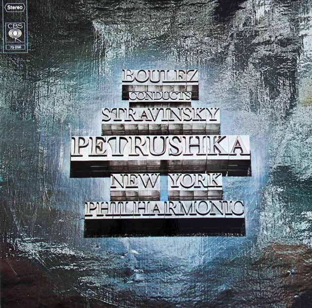 ブーレーズのストラヴィンスキー/「ペトルーシュカ」 独CBS 2837 LP レコード