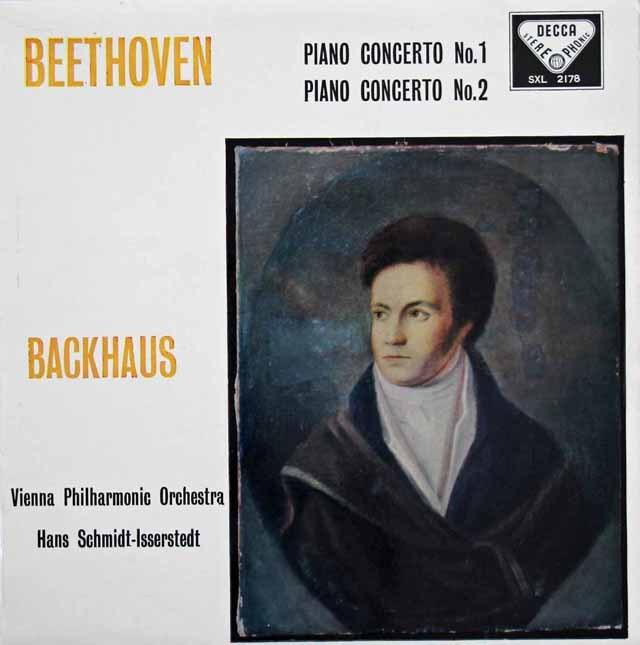 バックハウス&イッセルシュテットのベートーヴェン/ピアノ協奏曲第1&2番 英DECCA 2839 LP レコード