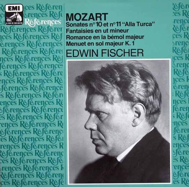 フィッシャーのモーツァルト/ピアノソナタ第10&11番ほか 仏EMI(VSM) 3220 LP レコード