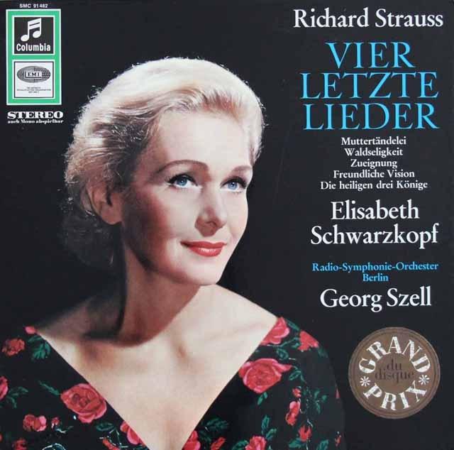シュヴァルツコップ&セルのR.シュトラウス/4つの最後の歌ほか 独Columbia 2839 LP レコード