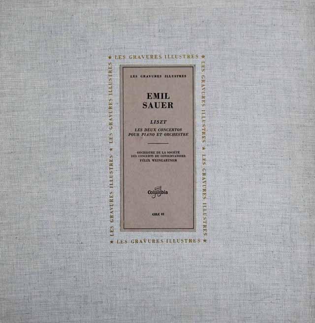 ザウアーのリスト/ピアノ協奏曲第1&2番 仏Columbia 2839 LP レコード