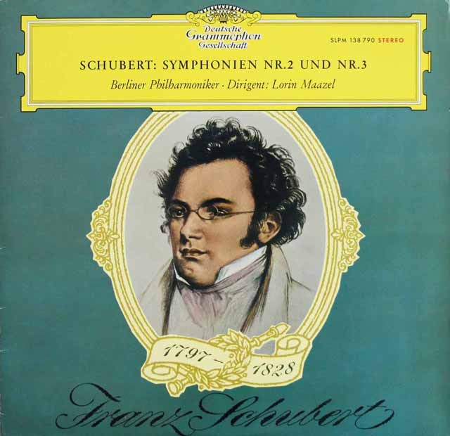 【赤ステレオ/独最初期盤】 マゼールのシューベルト/交響曲第2&3番 独DGG 3220 LP レコード