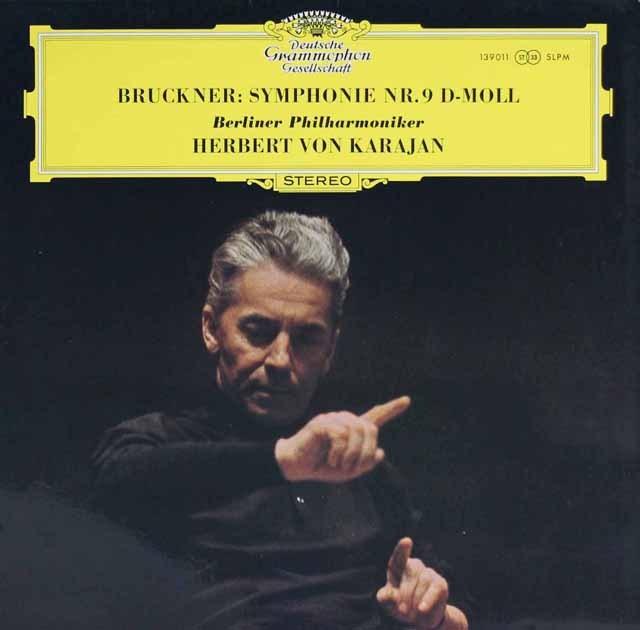カラヤンのブルックナー/交響曲第9番 独DGG 3220 LP レコード
