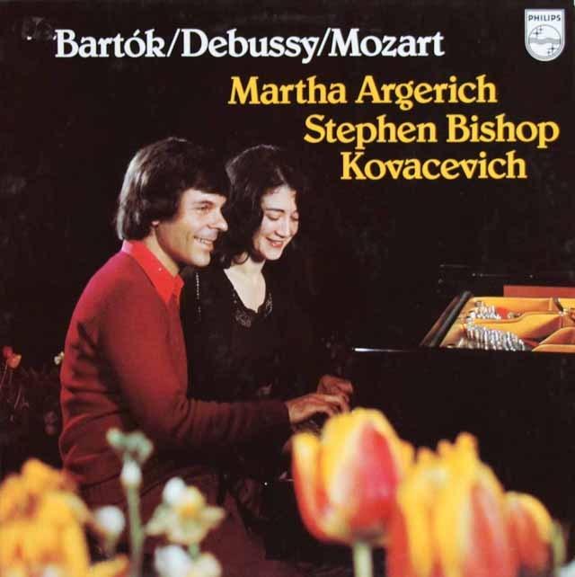 アルゲリッチ&コヴァセヴィチのバルトーク、モーツァルト&ドビュッシー/2台のピアノのための作品集 蘭PHILIPS 3220 LP レコード