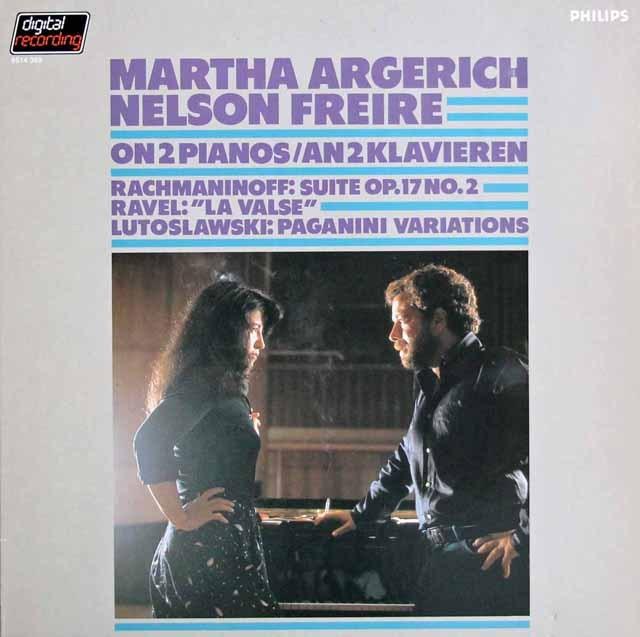アルゲリッチ&フレイレのラヴェル/「ラ・ヴァルス」ほか 2台のピアノのための作品集 蘭PHILIPS 3220 LP レコード