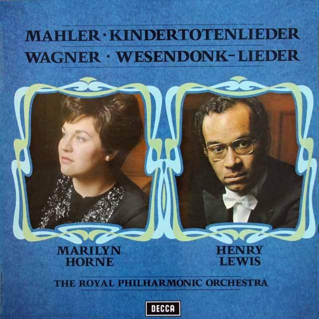 【オリジナル盤】マリリン・ホーンのマーラー&ワーグナー/歌曲集 英DECCA 3220 LP レコード