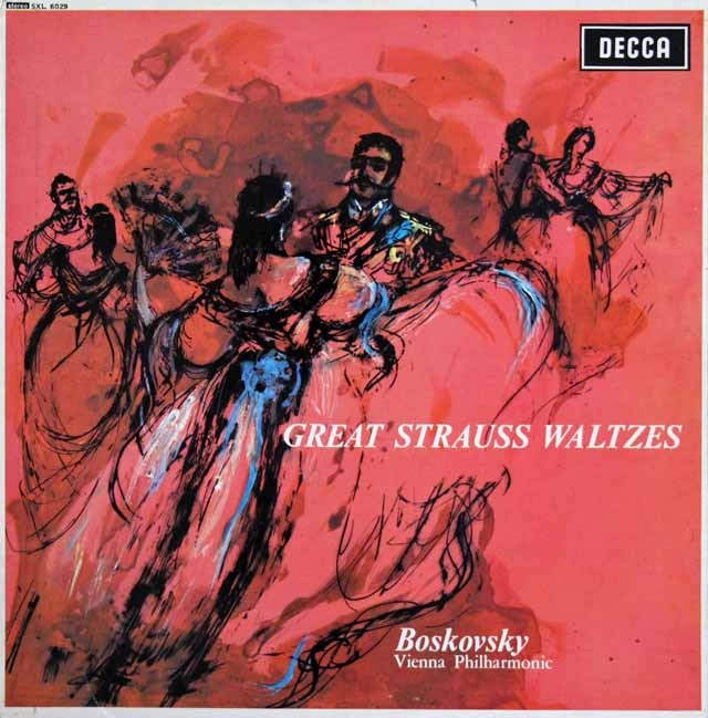 ボスコフスキーのシュトラウス/ワルツ集 英DECCA 3220 LP レコード