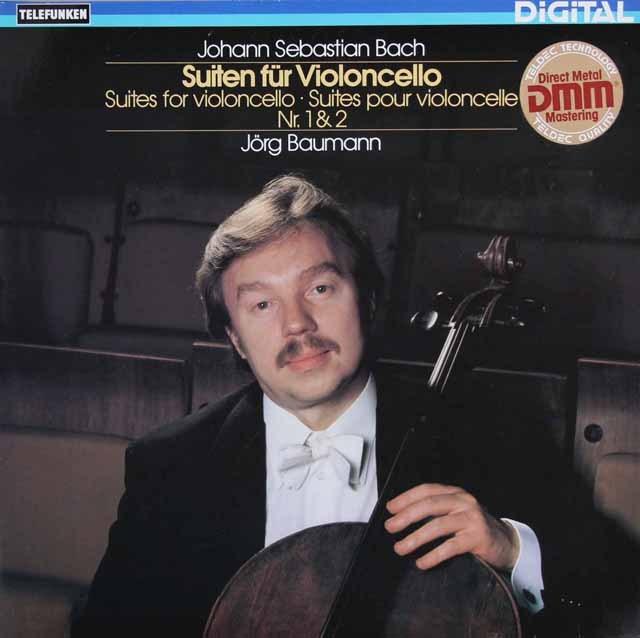 バウマンのバッハ/無伴奏チェロ組曲第1&2番 独TELEFUNKEN 3220 LP レコード