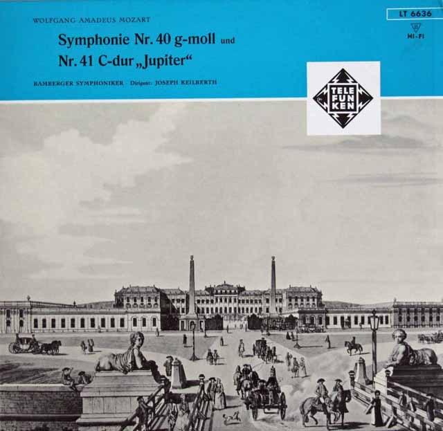 カイルベルトのモーツァルト/交響曲第40&41番「ジュピター」 独TELEFUNKEN 3220 LP レコード