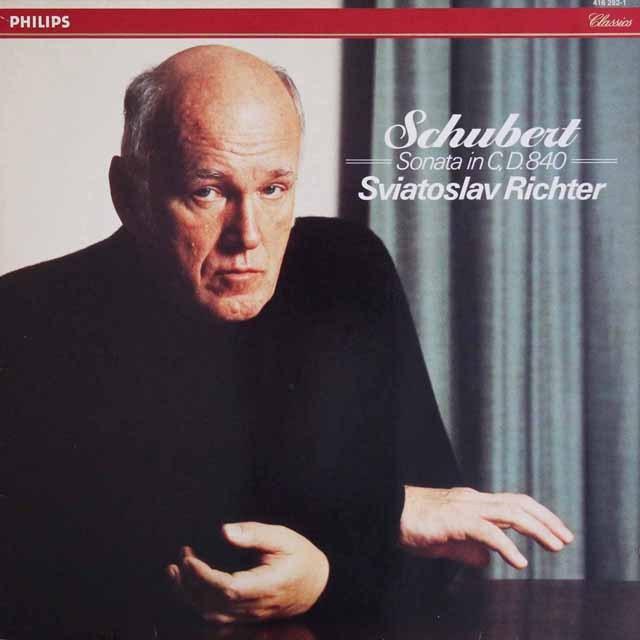 リヒテルのシューベルト/ピアノソナタ第15番 蘭PHILIPS 3220 LP レコード
