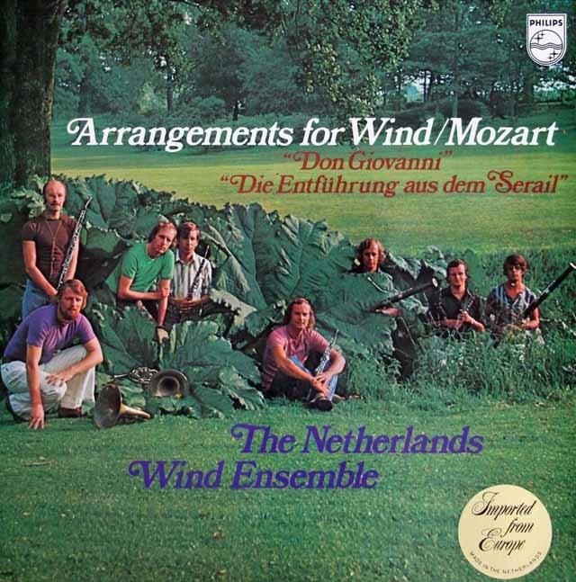 オランダ管楽アンサンブルのモーツァルト/「ドン・ジョヴァンニ」&「後宮からの誘拐」 蘭PHILIPS 3220 LP レコード