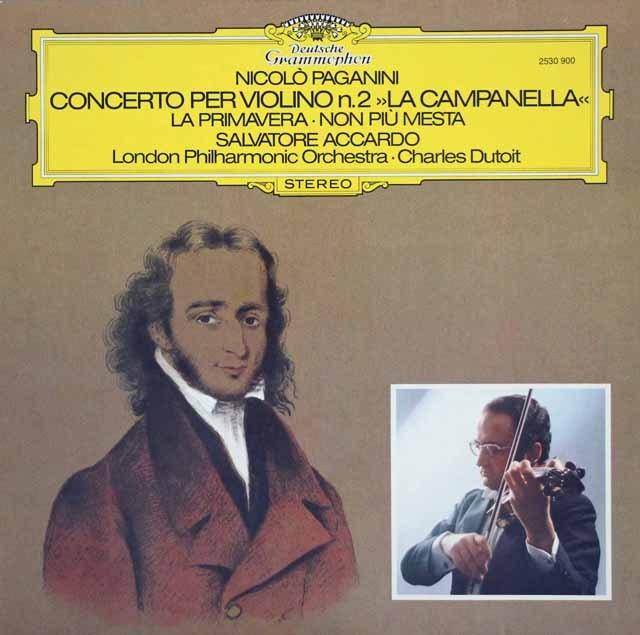 アッカルド&デュトワのパガニーニ/ヴァイオリン協奏曲第2番ほか 独DGG 2840 LP レコード