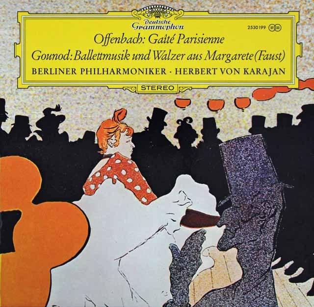 カラヤンのオッフェンバック/「パリの喜び」ほか 独DGG 3220 LP レコード