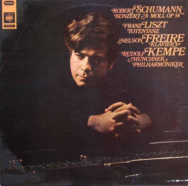 フレイレ&ケンペのシューマン/ピアノ協奏曲ほか 独CBS 2841 LP レコード