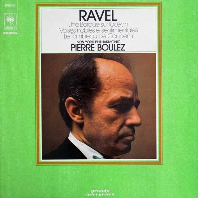 ブーレーズのラヴェル/「高雅で感傷的なワルツ」ほか 仏CBS 3294 LP レコード