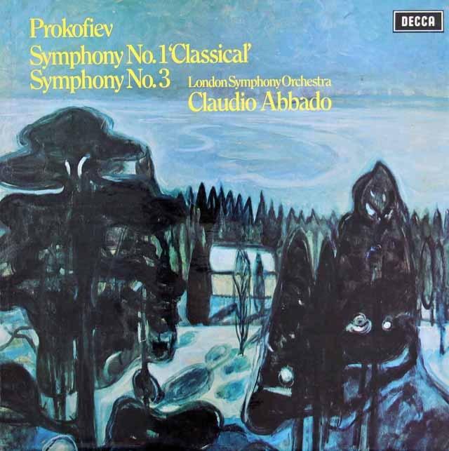 【オリジナル盤】アバドのプロコフィエフ/古典交響曲&第3番 英DECCA 2841 LP レコード