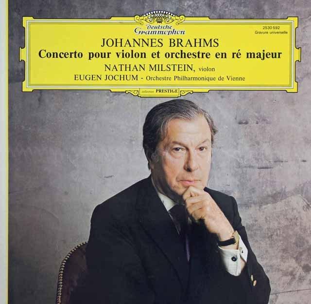 ミルシュタイン&ヨッフムのブラームス/ヴァイオリン協奏曲 独DGG 2841 LP レコード