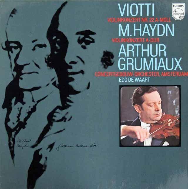グリュミオーのヴィオッティ&M.ハイドン/ヴァイオリン協奏曲集 蘭PHILIPS 3294 LP レコード