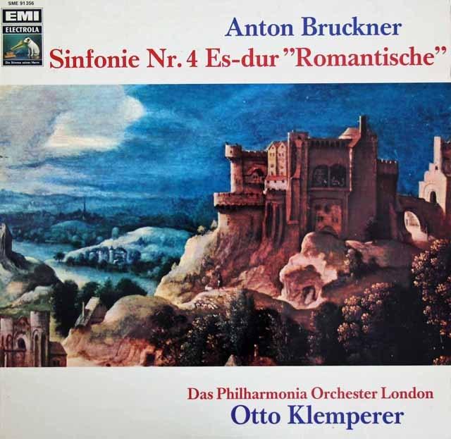 クレンペラーのブルックナー/交響曲第4番「ロマンティック」 独EMI 3294 LP レコード