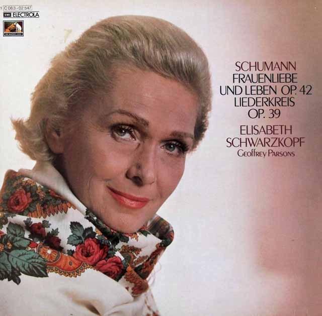 シュヴァルツコップのシューマン/「女の愛と生涯」ほか 独EMI 3294 LP レコード