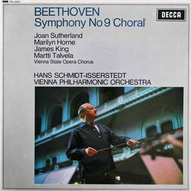 イッセルシュテットのベートーヴェン/交響曲第9番「合唱付き」 英DECCA 2843 LP レコード