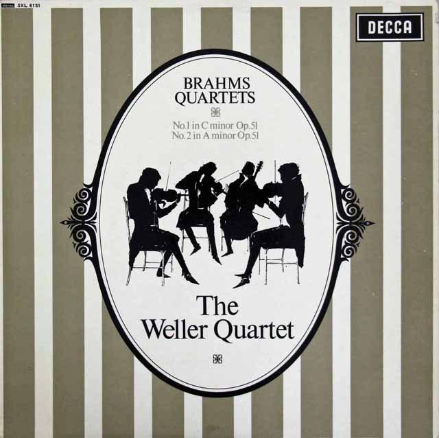 【オリジナル盤】ウェラー四重奏団のベートーヴェン/弦楽四重奏曲第1&2番 英DECCA 2843 LP レコード