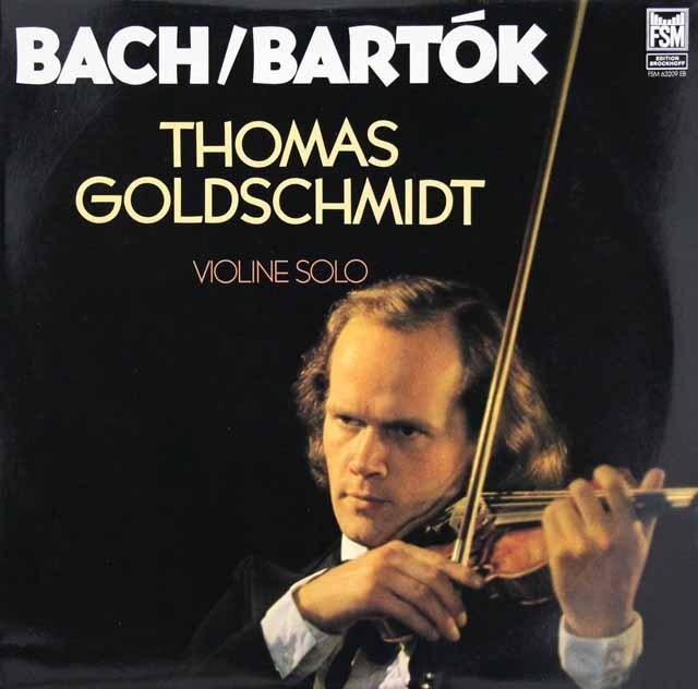 ゴールドシュミットのバッハ&バルトーク/ヴァイオリン作品集 独FSM 3294 LP レコード