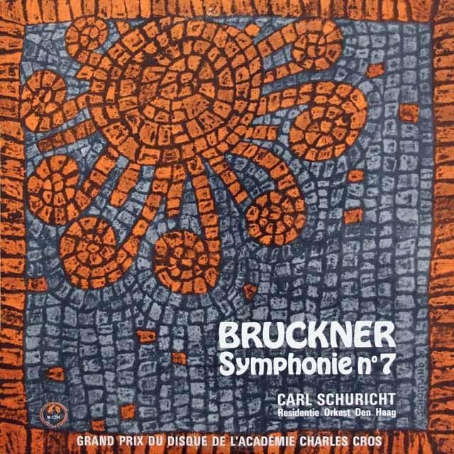 シューリヒトのブルックナー/交響曲第7番 独Concert Hall 2843 LP レコード