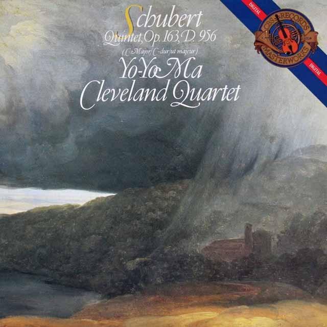 ヨーヨー・マ&クリーヴランド弦楽四重奏団のシューベルト/弦楽五重奏曲 蘭CBS 2843 LP レコード