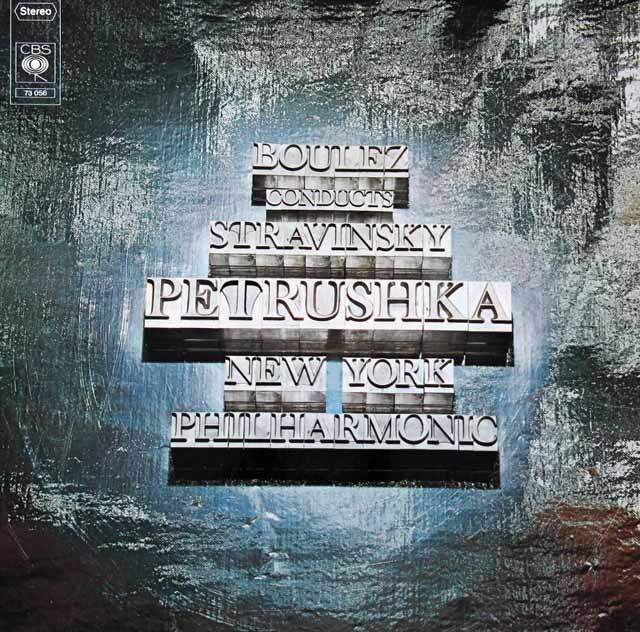 ブーレーズのストラヴィンスキー/「ペトルーシュカ」 独CBS 3294 LP レコード