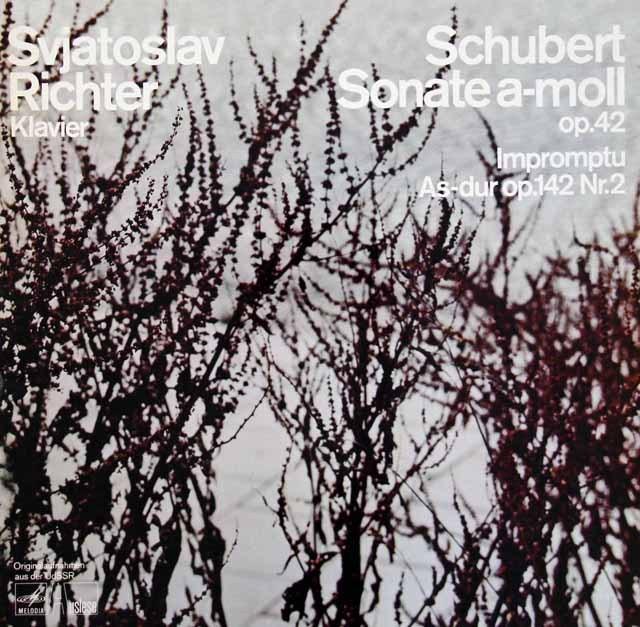 リヒテルのシューベルト/ピアノソナタ第16番ほか 独MELODIA(EURODISC) 3294 LP レコード
