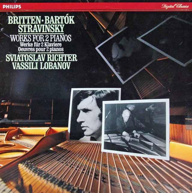 リヒテル&ロバノフの2台のピアノのための作品集 蘭PHILIPS 3293 LP レコード
