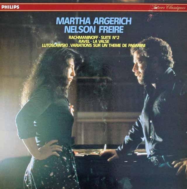 アルゲリッチ&フレイレのラヴェル/「ラ・ヴァルス」ほか 2台のピアノのための作品集 仏PHILIPS 3293 LP レコード