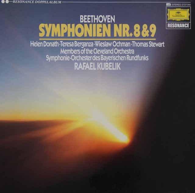 クーベリックのベートーヴェン/交響曲第8&9番  独DGG 3293 LP レコード