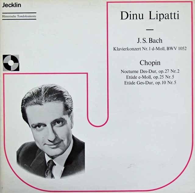 リパッティ&ベイヌムのバッハ/ピアノ協奏曲第1番ほか スイスJecklin 3293 LP レコード