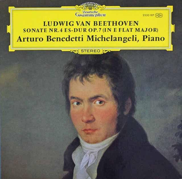 ミケランジェリのベートーヴェン/ピアノソナタ第4番 独DGG 3293 LP レコード