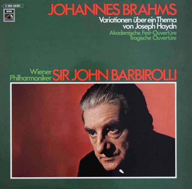 バルビローリのブラームス/管弦楽曲集 独EMI 3293 LP レコード