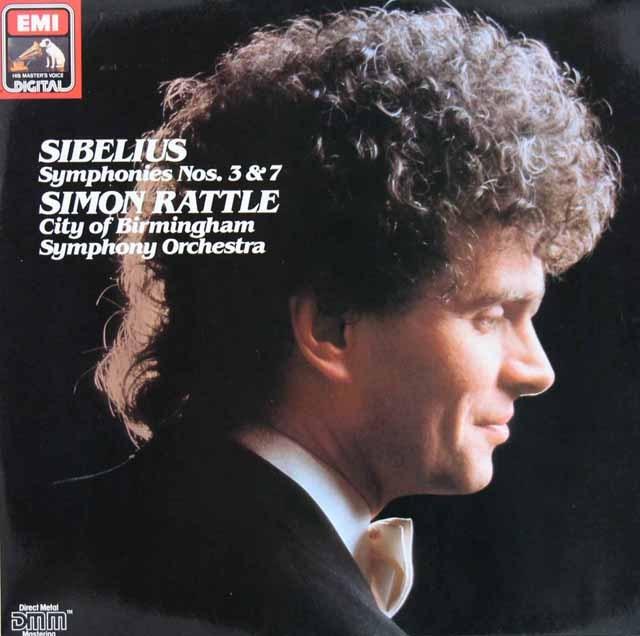 ラトルのシベリウス/交響曲第3&7番  独EMI 2849 LP レコード
