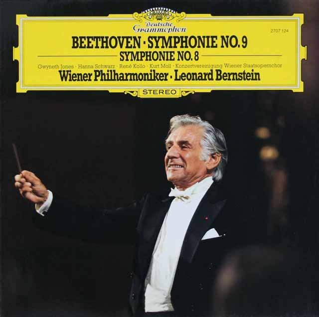 バーンスタインのベートーヴェン/交響曲第8&9番 独DGG 3293 LP レコード