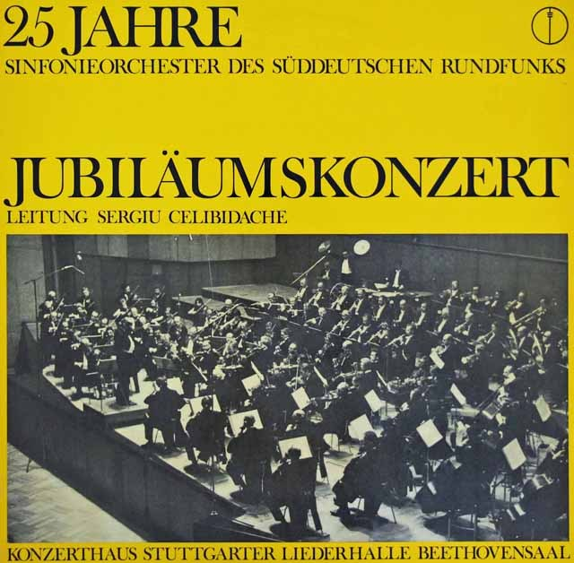 チェリビダッケのブルックナー/交響曲第7番ほか 独SWR 3293 LP レコード