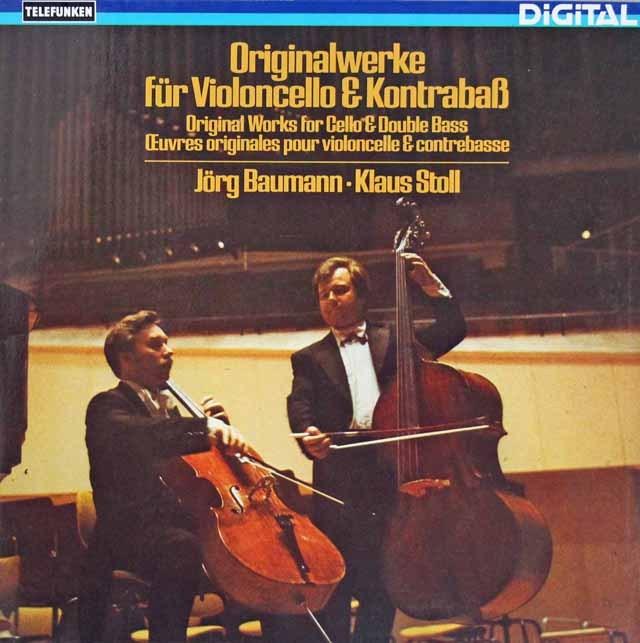 バウマン&シュトールのチェロとバスのための作品集 独TELEFUNKEN 3293 LP レコード