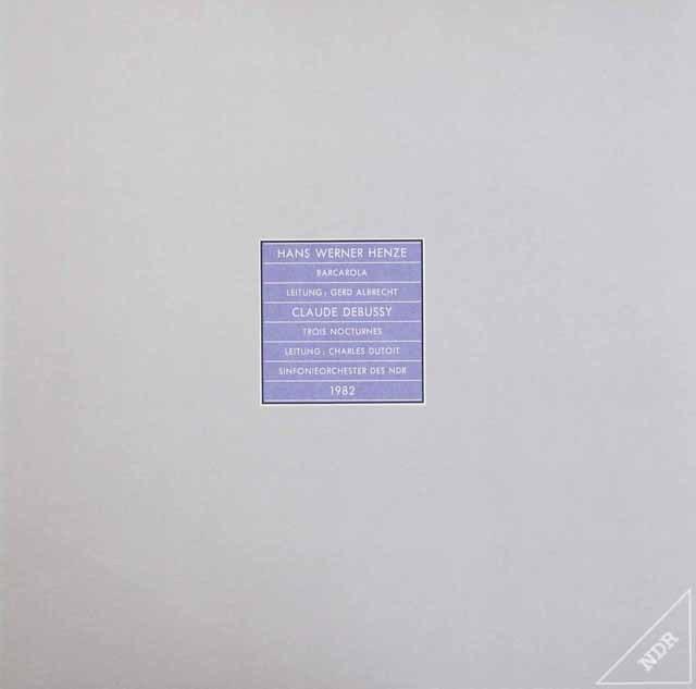 北ドイツ放送交響楽団のヘンツェ&ドビュッシー  独NDR 2849 LP レコード