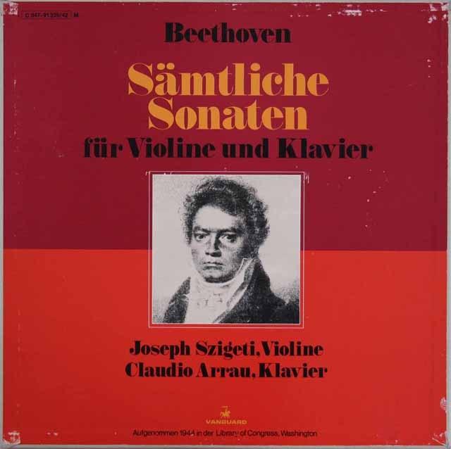 シゲティ&アラウのベートーヴェン/ヴァイオリンソナタ全集  独VANGUARD 2849 LP レコード