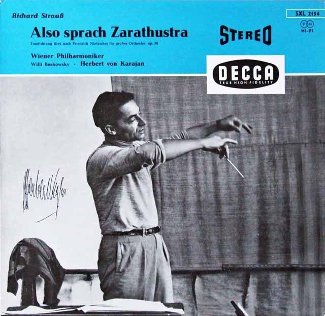 カラヤンのR.シュトラウス/交響詩「ツァラトゥストラはかく語りき」 独DECCA 2814 LP レコード