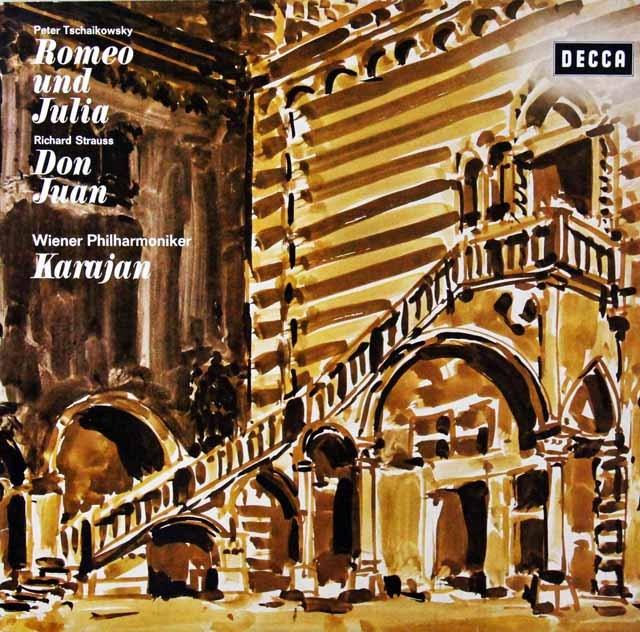 カラヤンのチャイコフスキー/「ロミオとジュリエット」ほか 独DECCA 2814 LP レコード
