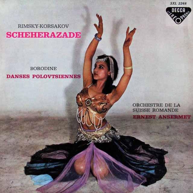 アンセルメのリムスキー=コルサコフ/交響組曲「シェヘラザード」ほか 仏DECCA 2814 LP レコード